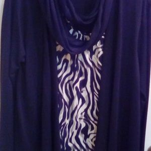 sweater and blouse attached